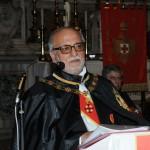 Il Principe Gran Maestro durante il suo discorso