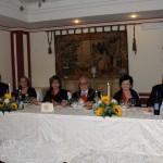 Il tavolo Presidenziale alla Cena di Gala